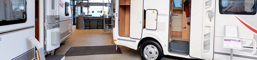 Huurcaravans in onze Showroom